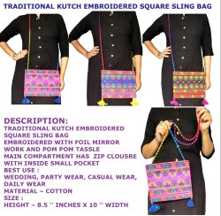 Rajasthani Embroidered Cross Body Bag