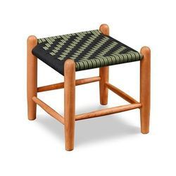 Wooden Brown Small Woven Foot Stool, For Restaurant, Size: Standard