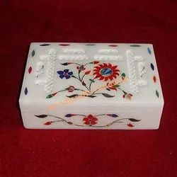 Italian Marble Inlay Box