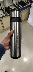 Silver Stainless Steel Water Bottle, Capacity: 1 Liter