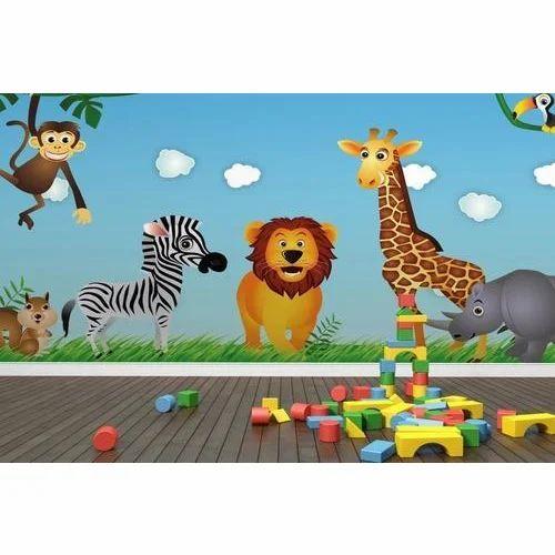 Kids Wallpaper Kids 3d Wallpaper Manufacturer From Indore