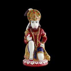 Hand-Carved Hanuman Statue