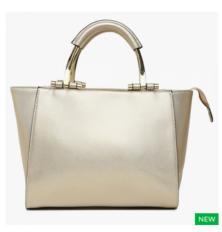 Code Shimmery Structured Handbag