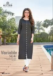 3/4th Sleeve Casual Wear Heer Vol-2 By Mittoo Rayon Kurtis
