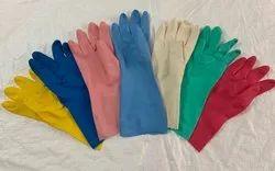Plain Pvc Rubber Hand Gloves 12, 6-10 Inches, Finger Type: Full Fingered