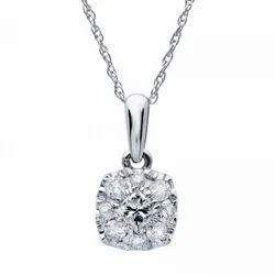 Cluster Diamond Gold Pendant