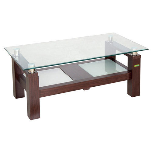 Rectangular Wooden And Glass Center Table Height 17 Inch Rs 10500 Piece Id 20233235988