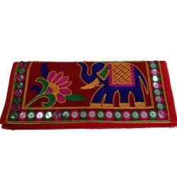 Ethnic Sindhi Embroidered Mirror Work Clutch