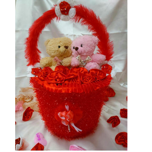Decorative teddy bear basket at rs 1343 piece teddy bears id decorative teddy bear basket voltagebd Choice Image