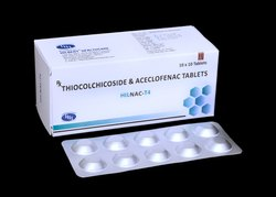 Aceclofenac 100mg & Thiocolchicoside 4mg Tablets