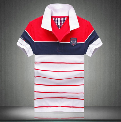 43ce746c7 100 Percent Cotton Short Sleeve Striped Polos at Rs 230 /piece ...