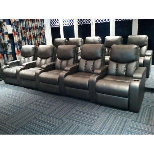 Golden Leather Home Theater Recliner Sofa Rs 32000 Piece Id