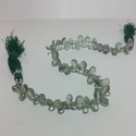 Natural Moss Aquamarine Pears Smooth Plain Briolette Beads
