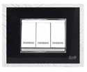 4 Module Black And Silver Modular Switch Plate