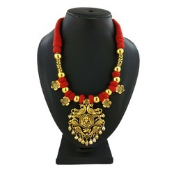 Antique Gold Plated Thread Necklace