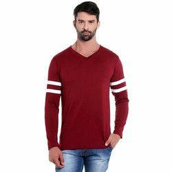 The Dry State Men's 100% Cotton V Neck T Shirt