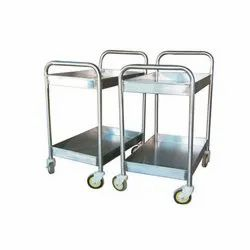 Stainless Steel Bussing Trolley 2 Tier, Load Capacity: 20-25 Kg
