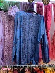 Rayon Knee Long Beach Wear Casual Kurta, Size: Large