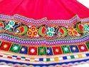Kids Garba Dance Costume - Rayon Cotton Gujarati Chaniya Choli - 24 Size - 5 to 6 Year