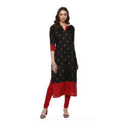 Ladies Black Printed Kurti