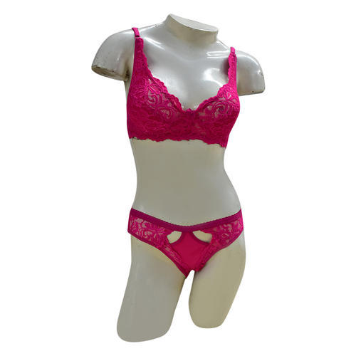 48b524263d Red Cotton Designer Bra Panty Set