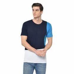 Vimal Jonney Cotton Blended Regular Sleeve Crew Neck fashion style Navy blue Color T-Shirt For Men's