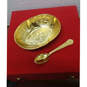 Gold Plated Bowl With Spoon