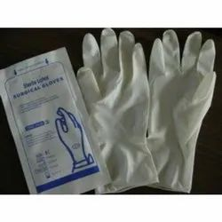 White Sterile Surgical Gloves, Sizes: 9 inches