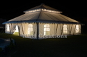 White Spacious Mughal Tent, Size: 8m X 8m And 12m X 12m