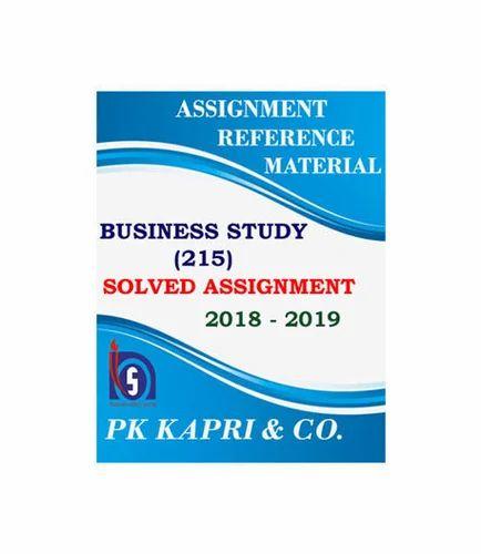 Nios Business Studies 215 Solved Assignment 10th English Medium 2018 19  Soft Copy Book