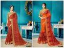 Georgette Bandhani Printed Party Wear Saree