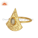 Texture Mountain Design Opal Gemstone Gold On Silver Ring