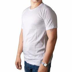 XL Half Sleeves Biowash Plain Round Neck T Shirts