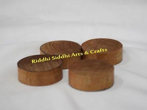 43 mm Round Sandalwood Piece