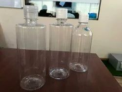 Flip Top Cap Transparent Pet Bottles, 500ml
