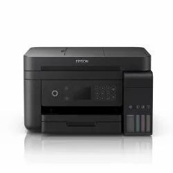Ink Tank Black Epson L6170 All-in One Color ADF Duplex Wireless Printer, Paper Size: A4