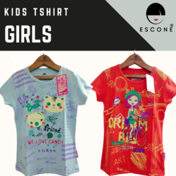 Escone 10 Colors Girls Half Sleeve T-shirt, Size: Small