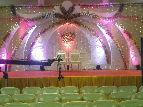 Stage decoration marriage hall decoration manufacturer from madurai wedding stage decoration junglespirit Gallery