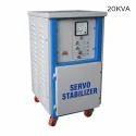 Semi Automatic Mild Steel 20kva Servo Voltage Stabilizer
