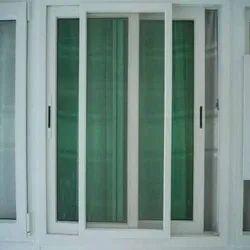 Sliding White UPVC Mesh Window