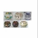 Small Round Mosaic Glass Candle Holder