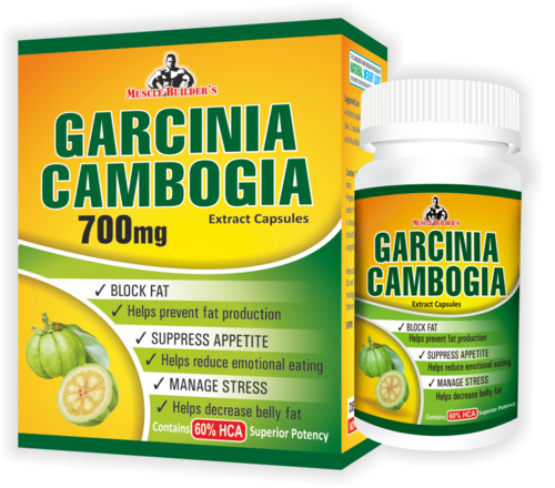 Muscle Builder Garcinia Cambogia Extract Block Fat Suppress Appetite Manage Stress 60 Capsules