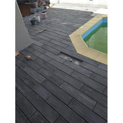 Black Wooden Finish Paver Mould Tile