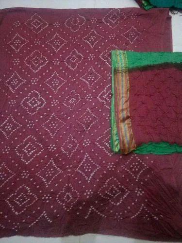 fb996de76e Printed Satin Cotton Bandhani Dress Material, Rs 380 /piece | ID ...