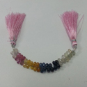 Natural Multi Sapphire Drops Faceted Beads Briolette Bead