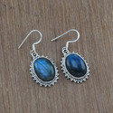 Classic Labradorite Gemstone 925 Sterling Silver Fashion Jewelry