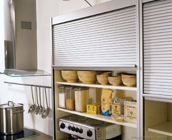 Stainless Steel And Mild Steel Kitchen Cabinet Shutter