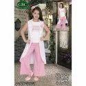 White Pink Printed Palazzo Dress