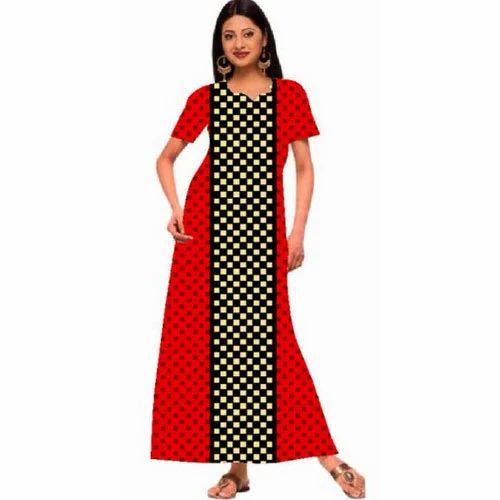 49d8be83b2 Ladies Half Sleeves Cotton Nighty DN2238