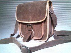 Suede Leather Messenger Bag